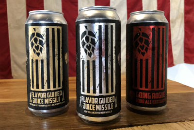 Tattered Flag Cans by Hop Hedz Gear